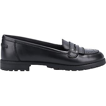 Hush Puppies Girls Emer Leather School Shoes