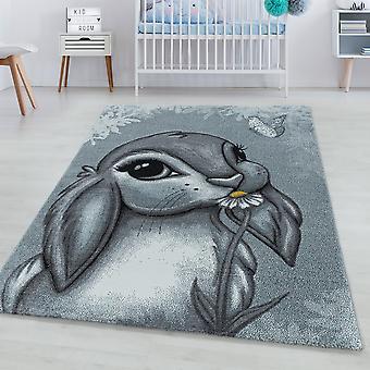Børns tæppe FUNNY kort bunke tæppe bunny design