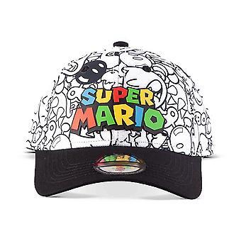 Nintendo - Logo all-over Konnahahmoilla Tulosta Baseball-lippis - Monivärinen
