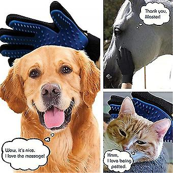 Right hand red dog pet glove silicone cats brush comb deshedding hair gloves dogs bath animal combs fa1147