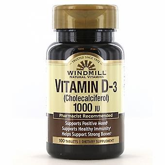 Windmill Health Vitamin D, 1000 IU 100 Count