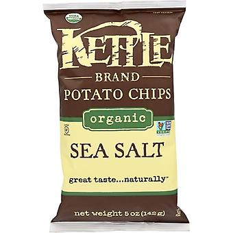Kettle Foods Chip Potato Sea Salt Org, Case of 15 X 5 Oz