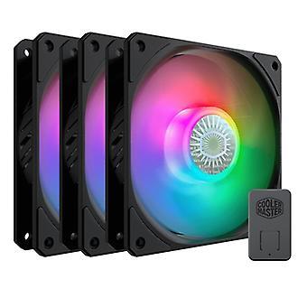 Ψυχρότερο κύριο δρεπάνι 120 ARGB addressable RGB 3 πακέτο ανεμιστήρων με τον ελεγκτή ARGB