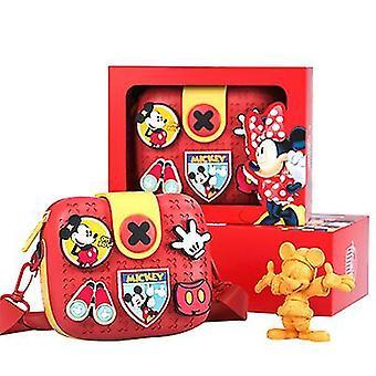 Disney children's handbags, shoulder bags, messenger bags(Red)