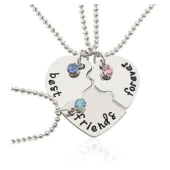 Necklace For Forever Chain Puzzle Heart Pendant