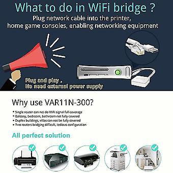 Var11n-300 Mini Wifi Trådlös 300mbps Nätverksrouter Wifi Bridge Repeater