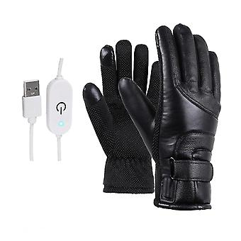 1 Pair Winter Motorcycle Riding Electric Heating Gloves Warm Gloves Usb High Heat 4 Gear Temperature Control Thermal Heating Gloves For Skiing Outdoor