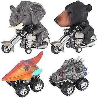 Dinosaurier Spielzeug Jungen Tiere Motorrad Spielzeug Zurückziehen Fahrzeug Spielzeug T-Rex