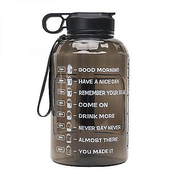Half Gallon/64oz Leakproof Bpa Free Water Bottle Large Capacity Space Cup