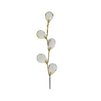 SISTA FÅ - 6 Pack Crystal Drops med guldstam för blomsterhantverk - Guld
