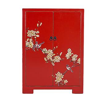 Fine Asianliving kinesiske kabinet Red Håndmalede Blossoms W80xD35xH99cm