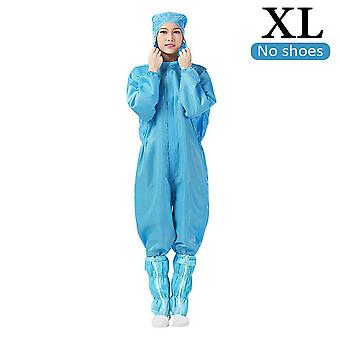 (Azul claro) Traje de monos protectores a prueba de salpicaduras traje de ropa de aislamiento protector