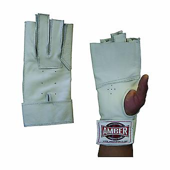 Amber Athletics Hammer Weight Throwing Fingerless Safe Gloves for Right Hand XL