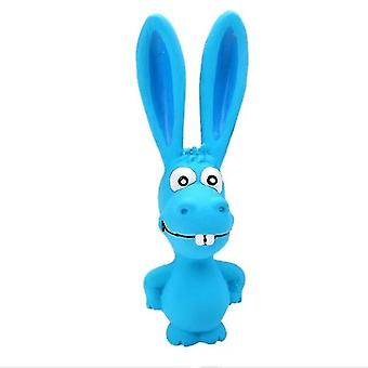 5 PCS PT027 Dogs Puppy Screaming Rubber Toy Squeaker Chew Training Products(Blue)