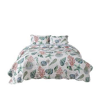 Quilt bedding set for bed reversible quilt bedspread soft lightweight coverlet summer bed set(1 quilt plus 2 pillowcase)