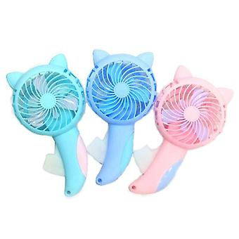 Mini fans page manual handheld summer mini cooling air conditioner for children