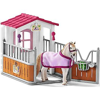 """42368"""" Horse Stall with Lusitano Mare Figure Set"""