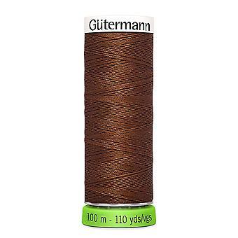 Gutermann 100% genanvendt polyester sy-alle tråd 100m hånd og maskine - 650