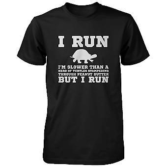 Ik ben langzamer dan een schildpad grappige training Shirt Fitness Short Sleeve Tee grappige hemd voor mannen