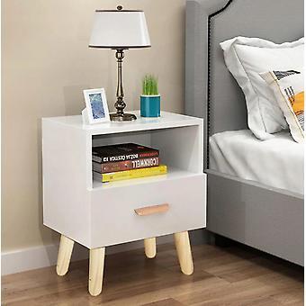 Nachttisch weiß - mit 1 Schublade - 38x30x40 cm