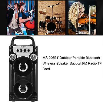 Ms-206bt Extérieur Portable Bluetooth Haut-Parleur Sans Fil Support Radio Fm Tf Card