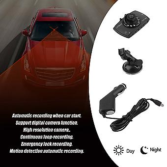 2,7-palcový Lcd G-senzor Nočné videnie Hd 720p Car Dvr Kamera Dash Cam Video