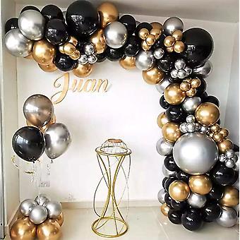 110 stuks gouden zwarte ballonnen partij zilveren ballon sets bruiloft verjaardag decoraties