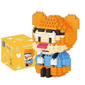 Little Tiger Concrete Block  For Creative Play Building Block Sets
