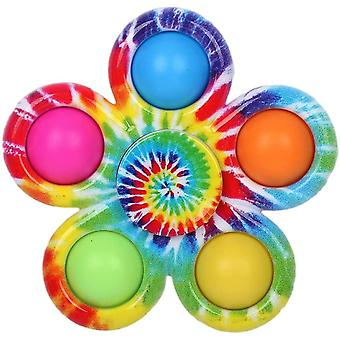 Tryck pop bubbla popper fidget leksak roterande stress relief hand spinner