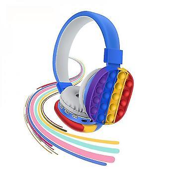 Caraele Wireless Bluetooth Headphone Stereo Headset Silicone Push Bubble Earphone Popit Headset