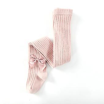 Pure Cotton Girls Leggings Princess Bow Girls Jumpsuit Strumpfhose Baby Frühling Und Herbst Neue Hose Spitzenstrümpfe