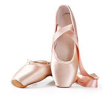 Balett tánc cipő gyermek és felnőtt balett pointe tánc cipő profi szalag cipő