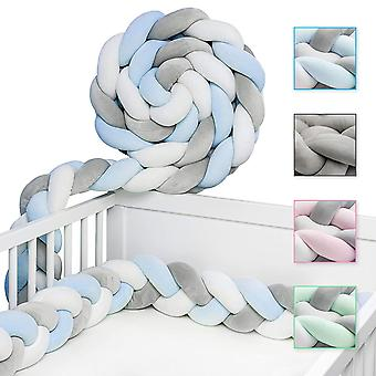 Bed Braided Bed Border Baby Bumper Decoration For Crib Cot (200cm)