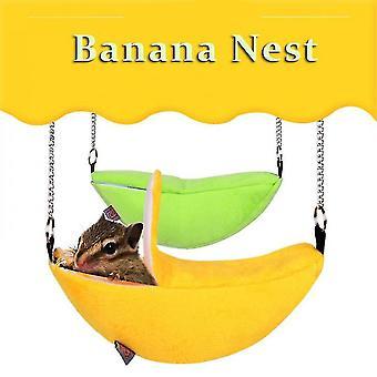 Yesfit Banana Shape Nest Hamster Warm House Hammock Rat Mouse Living Hanging