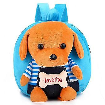 Barn & skolväska tecknad benhund plysch ryggsäck dagis baby väska