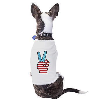 العلم الأمريكي لطيف الحيوانات الأليفة قميص تي هدايا الوطني فريدة من نوعها للمحاربين القدماء