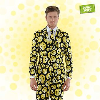Smileyanzug Funnysuits preppy happy 3-piece suit costume deluxe EU SIZES