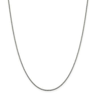 925 Sterling Silver Solid Polished Lobster Claw Closure 1.4mm Box Chain Necklace - Lobster Claw - Length: 16 to 36