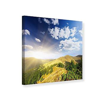 Canvas tulostaa Sunrise vuorilla