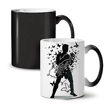 Butterfly Human Box Sport NEW Black Colour Changing Tea Coffee Ceramic Mug 11 oz | Wellcoda