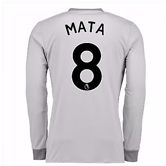 2017-2018 man United troisième chemise à manches longues (Mata 8)