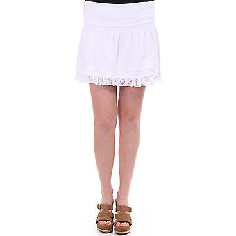 Juicy Couture Cotton Short Skirt With Lace Frill