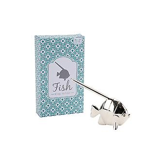 CGB Giftware Silver Fish Ring Holder