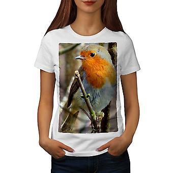 Bird Nature Cute Women WhiteT-shirt | Wellcoda