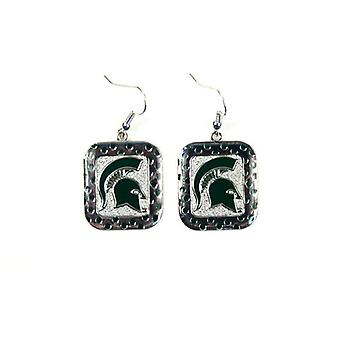 Michigan State Spartans NCAA Polka Dot Style boucle d'oreille