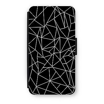 iPod Touch 6 Flip Case - geometriske linjer hvid