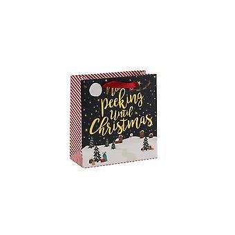 CGB Geschenkartikel Weihnachten keine spähen bis Weihnachten kleines Geschenk Tasche