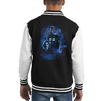 Doctor Who The Thirteenth Doctor Blue Kid's Varsity Jacket