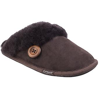 Cotswold Womens/Ladies Lechlade Sheepskin Lined Premium Mule Slippers