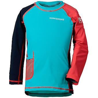 Didriksons Kids Surf Long Sleeved UV Rash Top - Turquoise